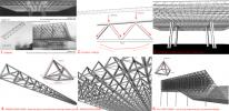 Build-up of a 3D space frame from trusses